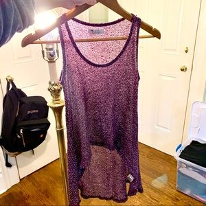 High Low Knit Tank Top 💜